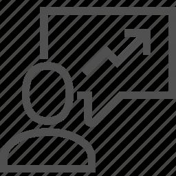 business, conference, diagram, presentation, resume, speaker, speech icon