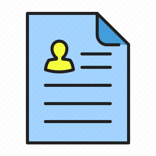 cv, document, file, job, paper, resume icon