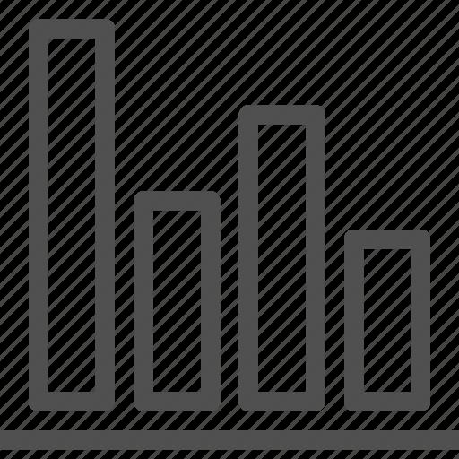 bar, comparison, diagram, graph, report, statistics icon