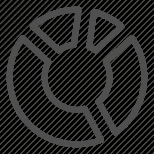 analytics, chart, circle, diagram, pie, piece, round icon