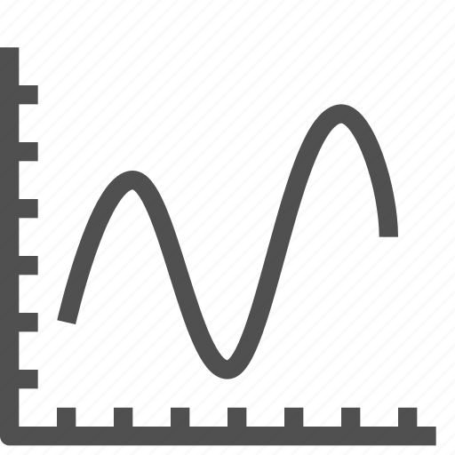 analytics, business, chart, curve, diagram, graph, line icon