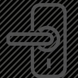 door, doorhandle, entree, keyhole, knob, lock, safety icon