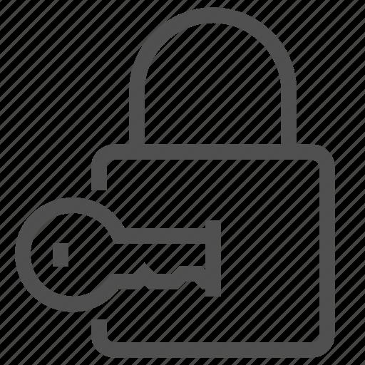 access, key, keyhole, lock, open, opener, padlock icon