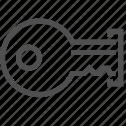 insert, key, keyhole, lock, open, opener, twist icon