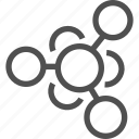 atom, microparticle, molecula, molecular, neutral, particle, science icon