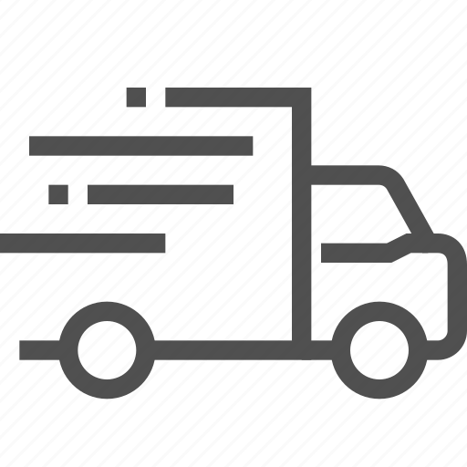 car, delivery, express, fast, lory, quickly, transfer icon