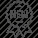 badge, buy, label, mark, new, shop, shopping