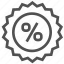 badge, discount, label, percent, sale, shop, shopping icon