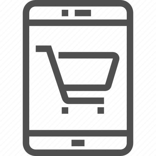 bag, buy, cart, ecommerce, mobile, online, shopping icon