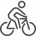 bicycle, bike, cycle, man, ride, spors, wheel icon