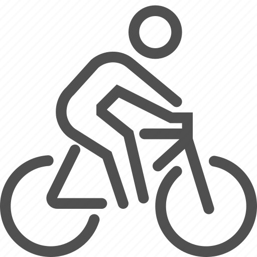 bicycle, bike, cycle, man, ride, spors, wheel icon