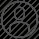 avatar, male, man, person, profile, silhouette, user icon