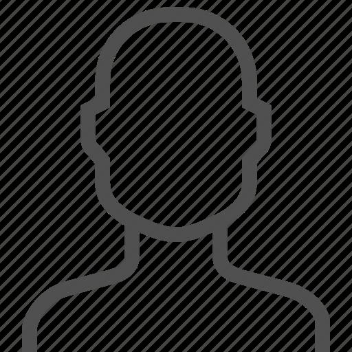 avatar, man, person, profile, silhouette, user icon
