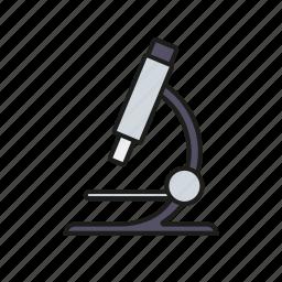 education, equipment, laboratory, microscope, school, sciences, university icon