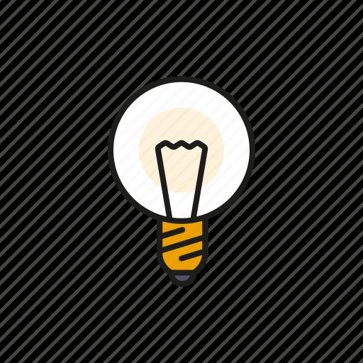 creativity, education, electricity, ideas, light, lightbulb, school icon
