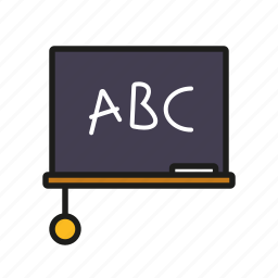 blackboard, chalkboard, classroom, education, elementary school, school, sponge icon