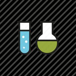 chemistry, education, laboratory, school, sciences, test tube, university icon