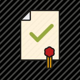 diploma, document, education, graduation, school, test, university icon