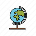 earth, education, geography, globe, map, school, world icon