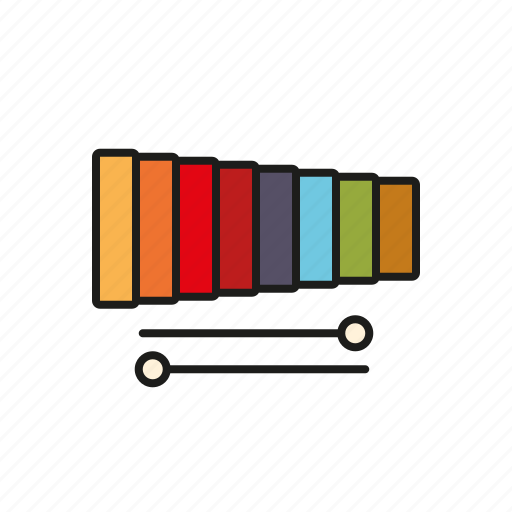 class, education, elementary school, music, musical instrument, school, xylophone icon