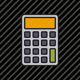 calculator, device, education, mathematics, maths, school icon