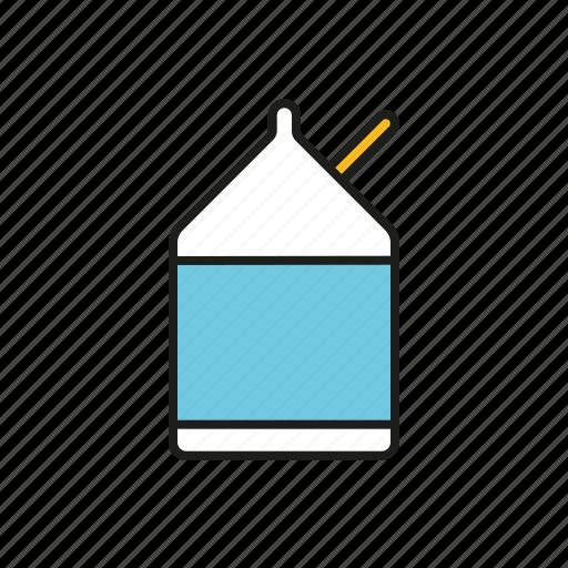 box, carton, drink, education, lunch, milk, school icon