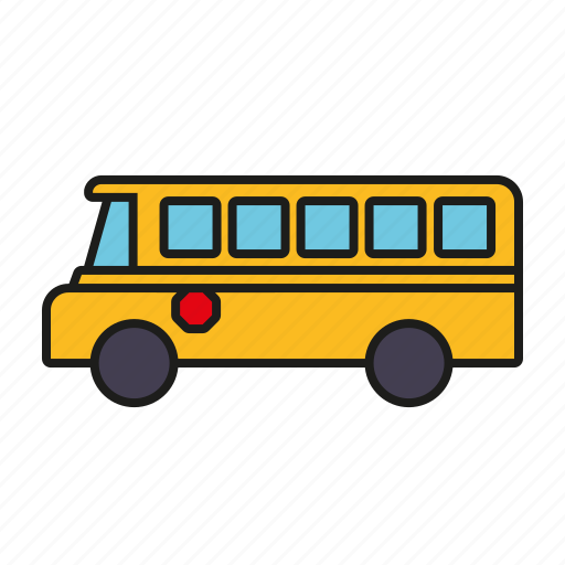 bus, education, elementary school, motor vehicle, school, school bus, transportation icon