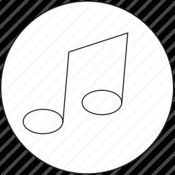 audio, media, music, nota, sound icon