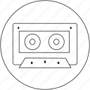 audio, multimedia, music, tape icon