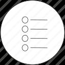 list, menu, navigation