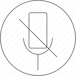 audio, microphone, music, off icon
