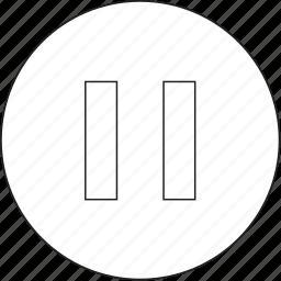 audio, music, pause icon
