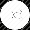 audio, mix, music, shuffle icon