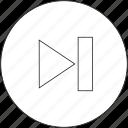 next, skip icon