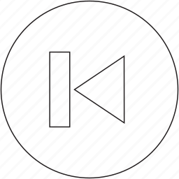 back, previous, skip icon