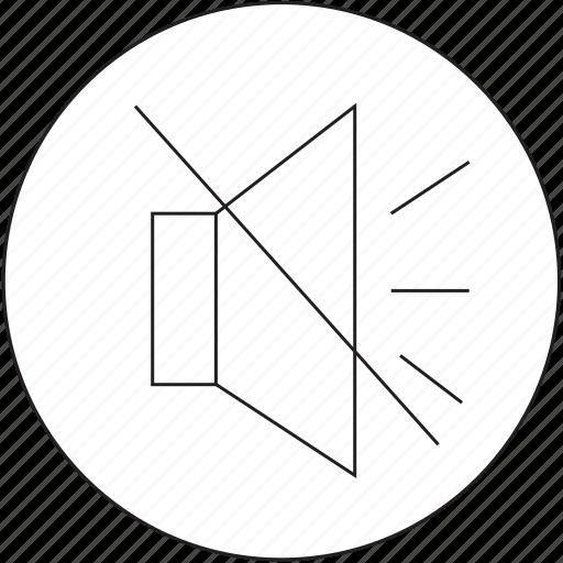 audio, music, off, volume icon