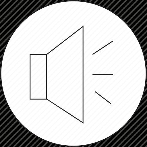 audio, music, on, volume icon
