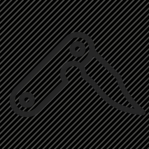 blade, camping, folding, knife, multitool icon