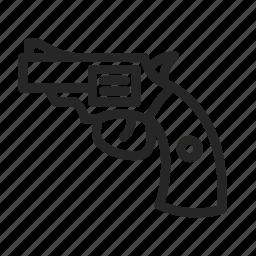gun, pistol, revolver, shooting icon