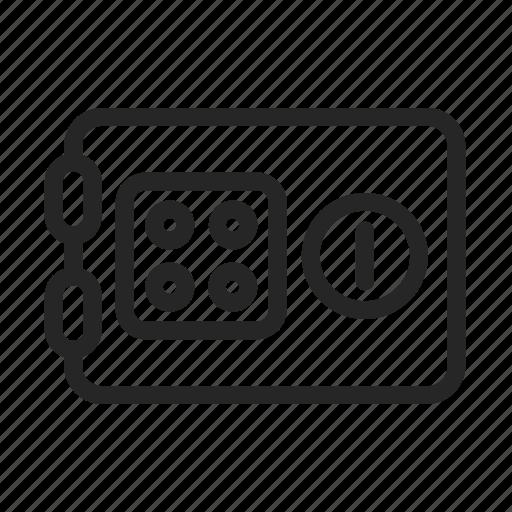 deposit, money, safe, secret, strongbox icon