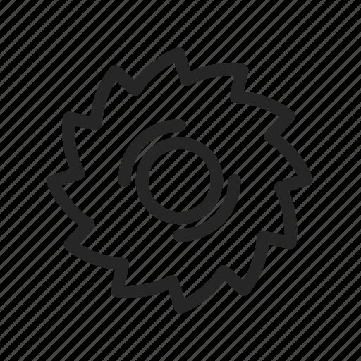disc, metal, saw, wood icon