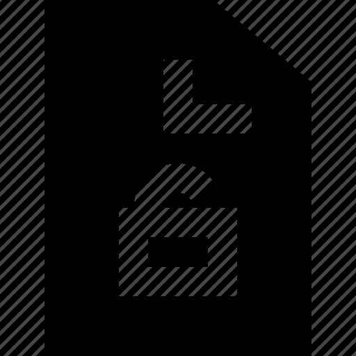 document, file, office, open, padlock icon