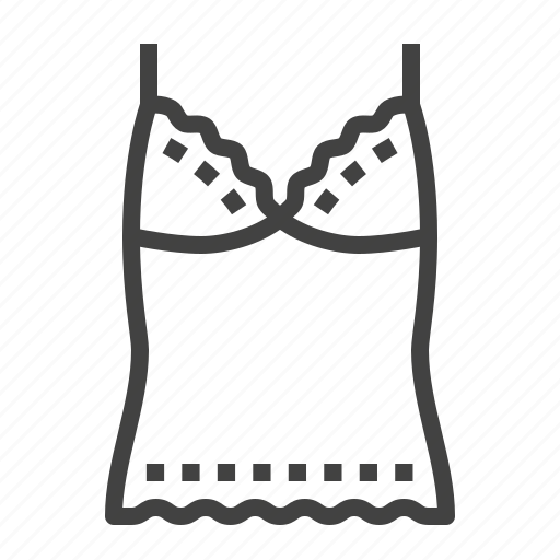 chemise, lingerie, top, underwear icon