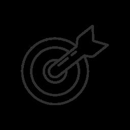 advertise, bullseye, create ad, dart icon