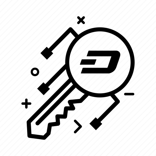 crypto, currency, dash, dashcoin, key, login, money icon