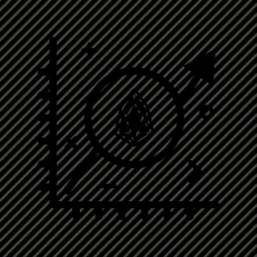 chart, crypto, currency, eos, eoscoin, money, progress icon