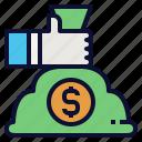 bonus, business, finance, management, money, salary icon