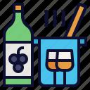 beverage, cocktail, cookbook, food, wine icon