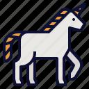 fairy, fantasy, magical, mythical, startup, tale, unicorn icon