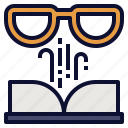 book, knowledge, literature, novel, reading icon